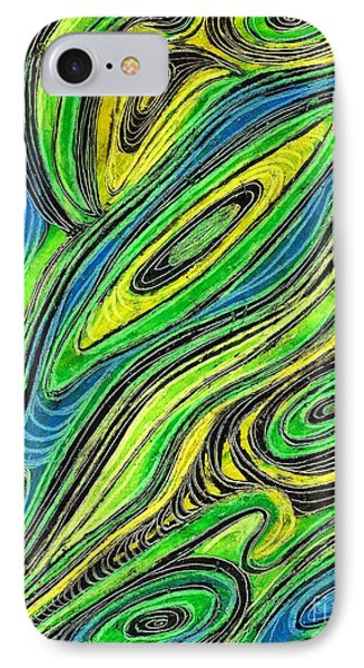 Curved Lines 5 Phone Case by Sarah Loft