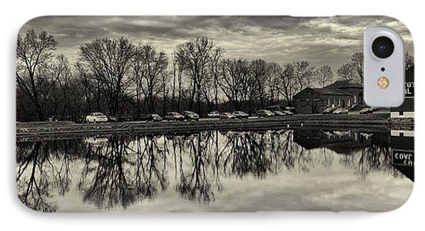 Cushwa Basin C And O Canal Black And White Phone Case by Joshua House