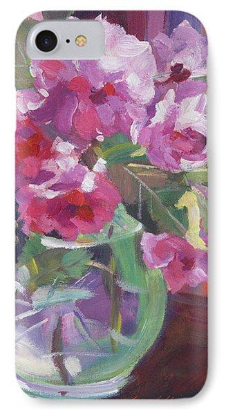 Cut Flowers In Glass IPhone Case by David Lloyd Glover