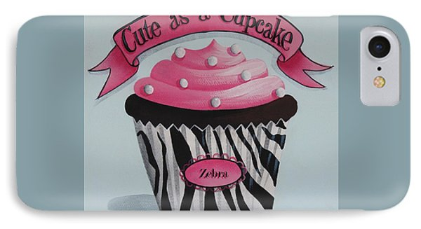 Cute As A Cupcake Phone Case by Catherine Holman