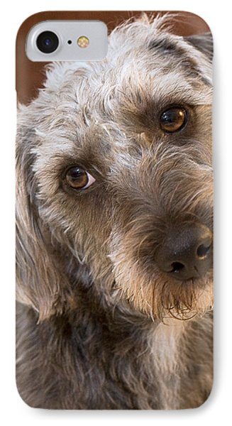 Cute Pup Phone Case by Natalie Kinnear