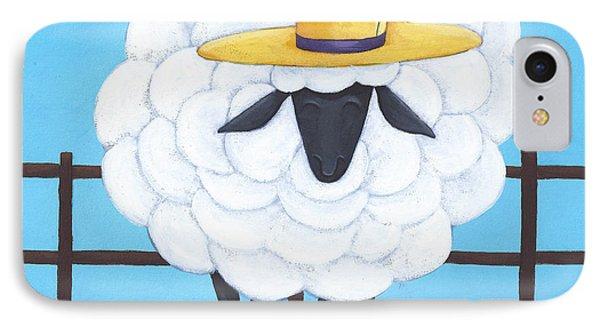 Cute Sheep Nursery Art Phone Case by Christy Beckwith