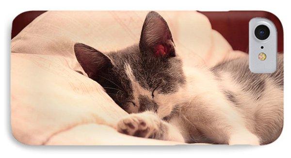 Cute Sleeping Kitten Phone Case by Tilen Hrovatic