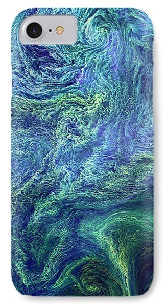 Cyanobacteria Bloom IPhone Case by Nasa