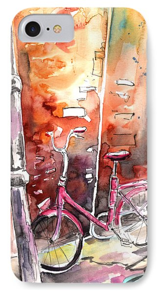 Cycling In Italy 02 IPhone Case by Miki De Goodaboom