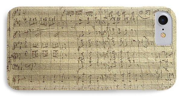 Czech Republic Prague Symphony No. 38 In D Major Called Prague Symphony IPhone Case by Wolfgang Amadeus Mozart