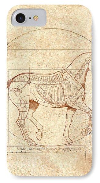 da Vinci Horse in Piaffe IPhone Case by Catherine Twomey