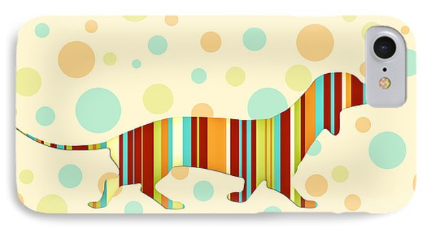 Dachshund Fun Colorful Abstract IPhone Case by Natalie Kinnear
