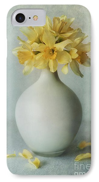 Daffodils In A White Flowerpot IPhone Case by Jaroslaw Blaminsky