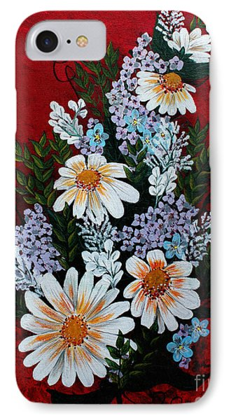Daisies Lilacs And Forget Me Nots Phone Case by Barbara Griffin