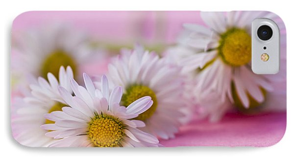 Daisies On Pink Phone Case by Jan Bickerton