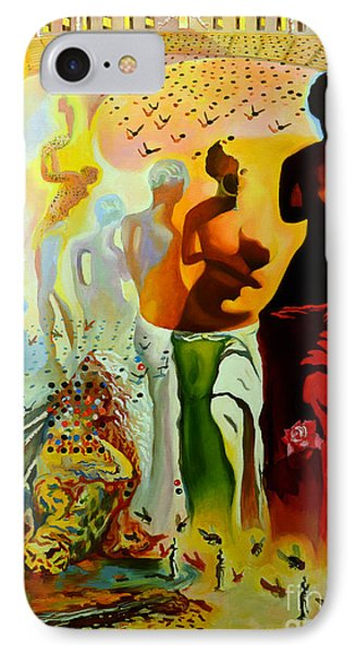 Dali Oil Painting Reproduction - The Hallucinogenic Toreador IPhone Case by Mona Edulesco