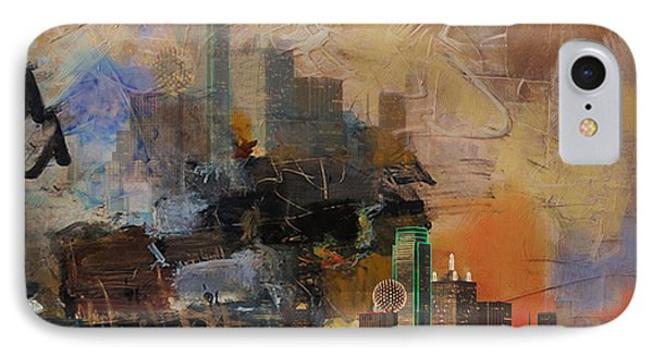 Dallas Abstract 002 IPhone Case by Corporate Art Task Force