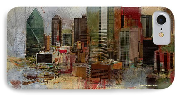 Dallas Skyline 003 IPhone Case by Corporate Art Task Force