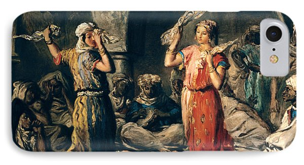 Dance Of The Handkerchiefs, 1849 Oil On Panel IPhone Case by Theodore Chasseriau