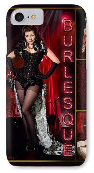 Dance Series - Burlesque IPhone Case by Linda Lees