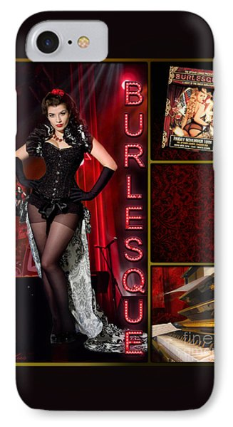 Dance Series - Burlesque Phone Case by Linda Lees