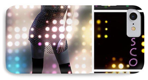 Dance Series - Disco IPhone Case by Linda Lees