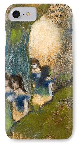 Dancers Behind The Scenes IPhone Case by Edgar Degas