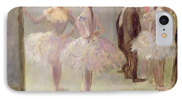 Dancers In The Wings At The Opera IPhone Case by Jean Louis Forain