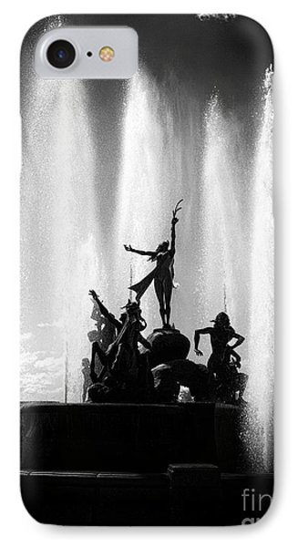 Dancing Fountain Phone Case by John Rizzuto
