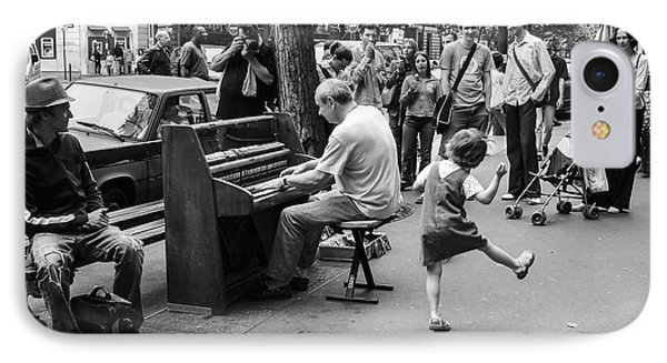 Dancing On A Paris Street IPhone Case by Diane Diederich