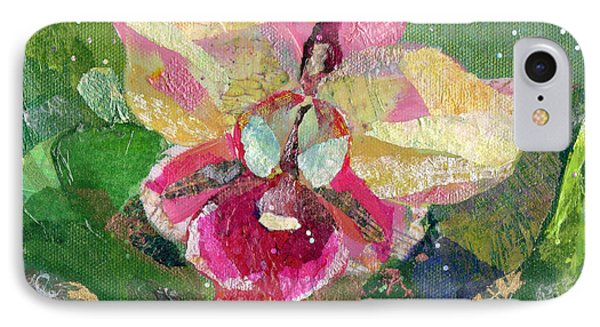 Dancing Orchid I IPhone 7 Case by Shadia Derbyshire