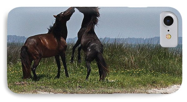Dancing Ponies IPhone Case by Cathy Lindsey