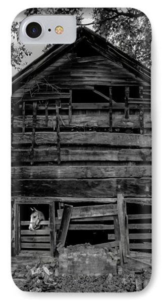Daniel Boone Cabin IPhone Case by Karen Wiles