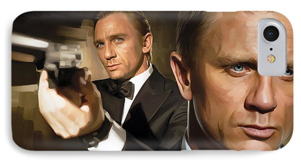 Daniel Craig - James Bond Artwork IPhone Case by Sheraz A