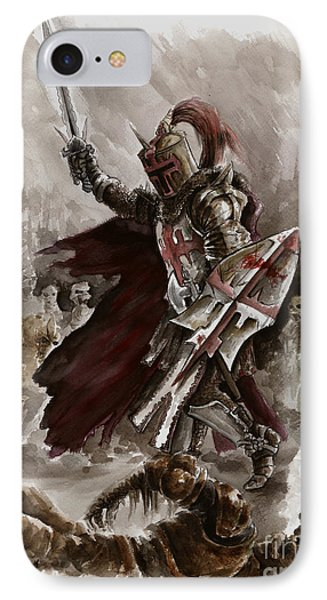 Dark Crusader IPhone Case by Mariusz Szmerdt