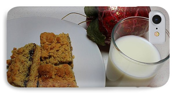 Date Squares - Snack - Dessert - Milk Phone Case by Barbara Griffin