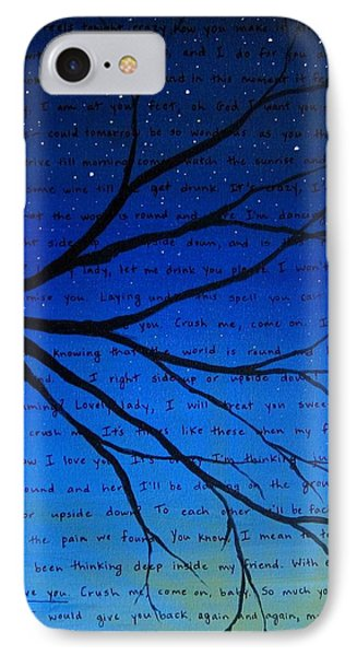Dave Matthews Band Crush Song Lyric Art IPhone Case by Michelle Eshleman