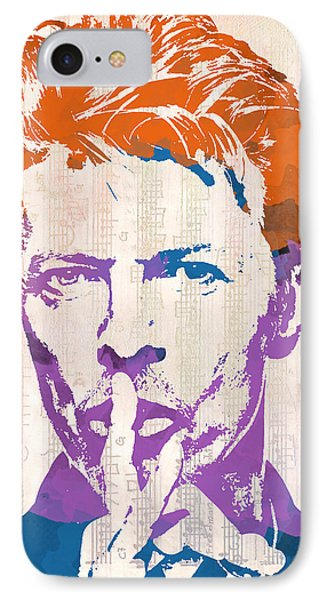 David Bowie IPhone Case by Paulette B Wright