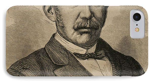 David Livingstone 1813-1873. Engraving IPhone Case by Bridgeman Images