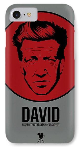 David Poster 1 IPhone Case by Naxart Studio