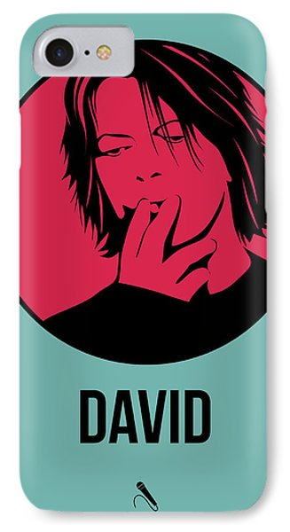 David Poster 3 IPhone Case by Naxart Studio