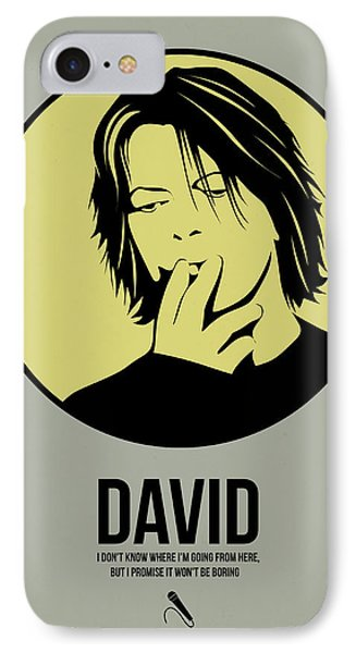 David Poster 4 IPhone Case by Naxart Studio