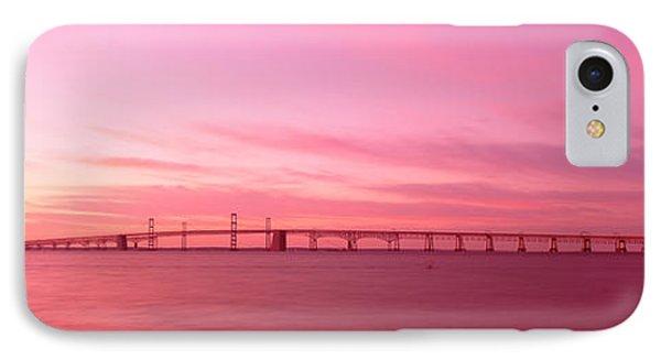 Dawn, Chesapeake Bay Bridge, Maryland IPhone Case by Panoramic Images