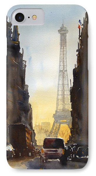 Dawn In Paris IPhone Case by James Nyika