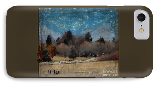 Day At The Park Painting  IPhone Case by Bobbee Rickard
