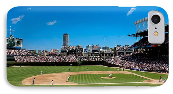 Day Game At Wrigley Field IPhone Case by Anthony Doudt