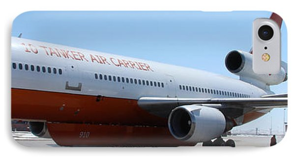 IPhone Case featuring the photograph Dc-10 Air Tanker At Rapid City by Bill Gabbert