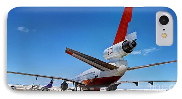 IPhone Case featuring the photograph Dc-10 Air Tanker  by Bill Gabbert