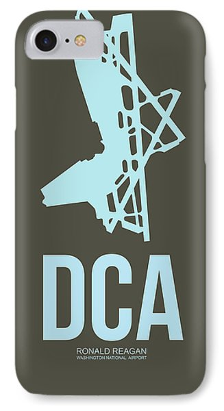 Dca Washington Airport Poster 1 IPhone Case by Naxart Studio