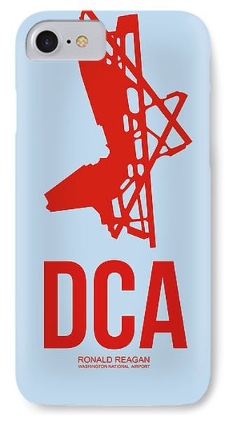 Dca Washington Airport Poster 2 IPhone Case by Naxart Studio