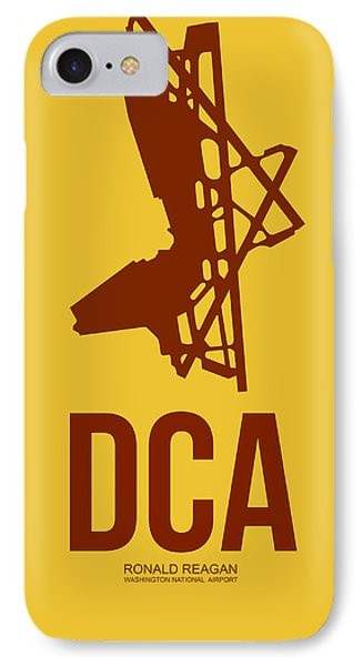 Dca Washington Airport Poster 3 IPhone Case by Naxart Studio