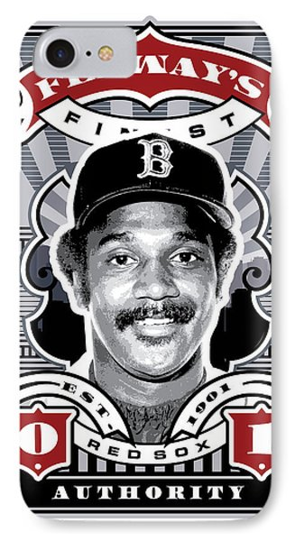 Dcla Jim Rice Fenway's Finest Stamp Art IPhone Case by David Cook Los Angeles