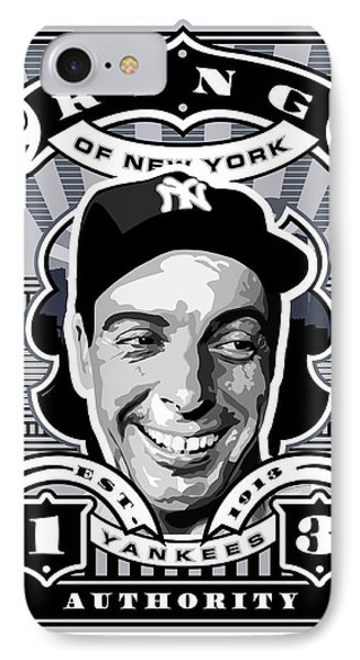 Dcla Joe Dimaggio Kings Of New York Stamp Artwork IPhone 7 Case by David Cook Los Angeles