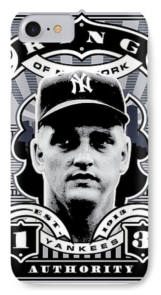 Dcla Roger Maris Kings Of New York Stamp Artwork IPhone 7 Case by David Cook Los Angeles